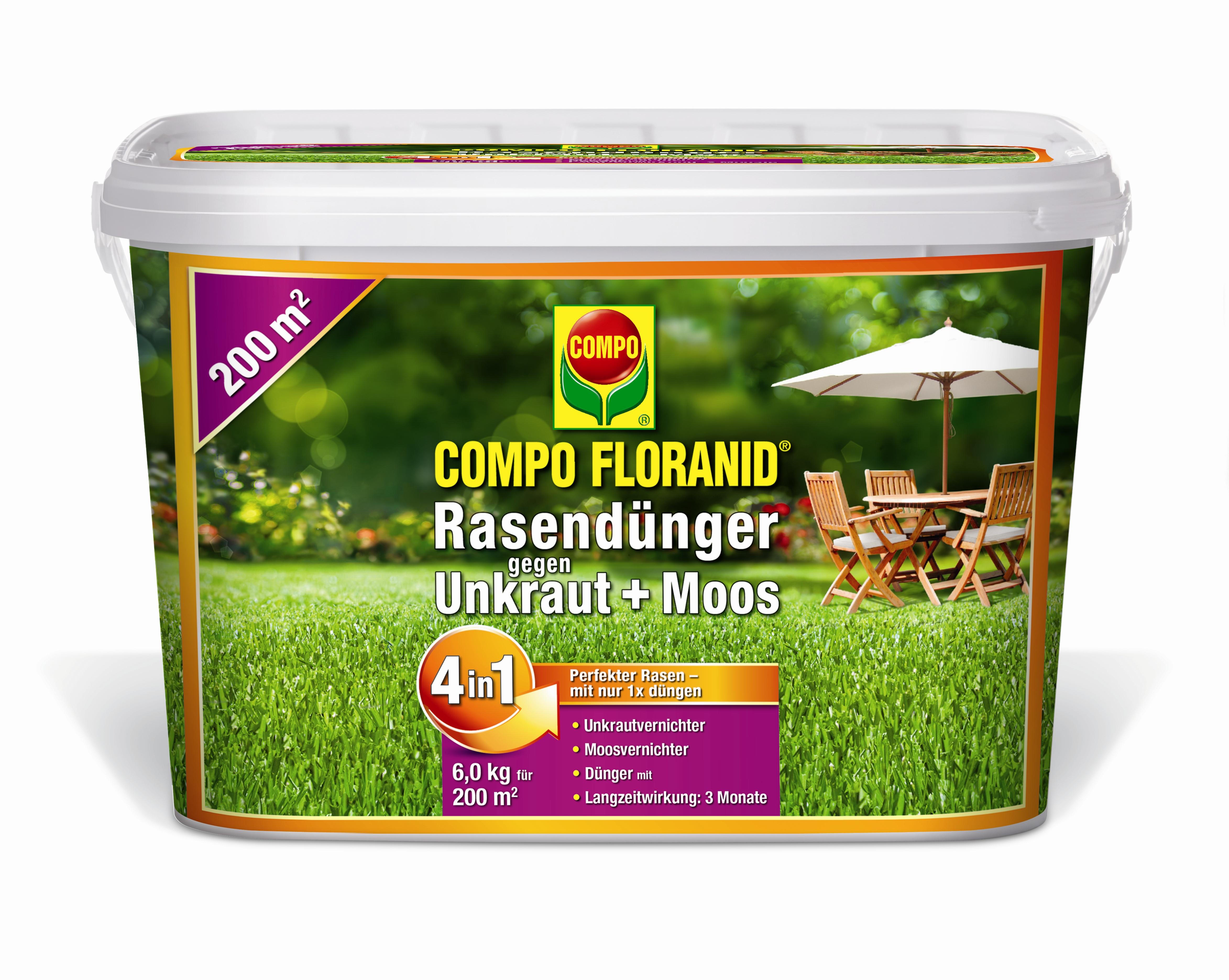 Compo Floranid Rasendunger Gegen Moos Und Unkraut 4 In 1 Dunger Shop